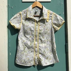 Anthropologie Bowling Shirt from Odille Size 8